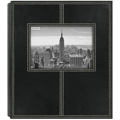 Pioneer Photo Albums 2PS160 Sewn Frame Leatherette Photo Album (Black)