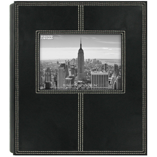Pioneer Photo Albums 2PS160 Sewn Frame Leatherette Photo Album (Black)
