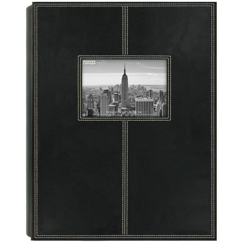 Pioneer Photo Albums 5PS300 Sewn Frame Leatherette Photo Album (Black)