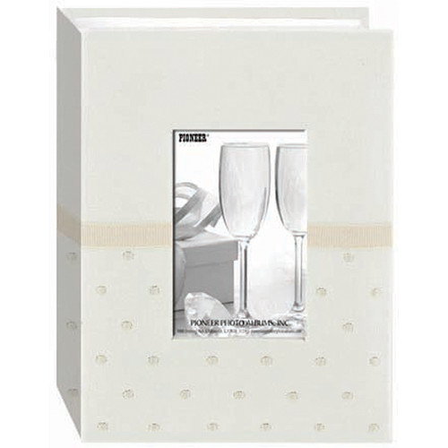 Pioneer Photo Albums CEM-100 Celebration Embroidered Frame Fabric Photo Album (Ivory)