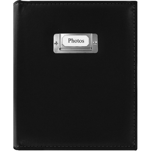 Pioneer Photo Albums CTS-246 Sewn Photo Album with Silver ID Cover (Black)
