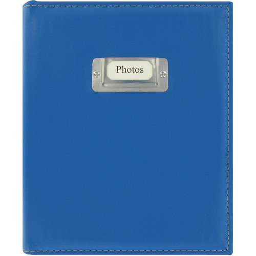 Pioneer Photo Albums CTS-246 Sewn Photo Album with Silver ID Cover (Bright Blue)