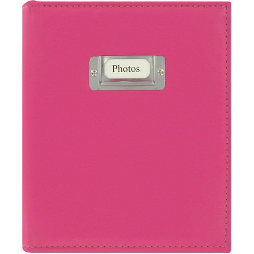 Pioneer Photo Albums CTS-246 Sewn Photo Album with Silver ID Cover (Bright Pink)