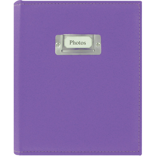 Pioneer Photo Albums CTS-246 Sewn Photo Album with Silver ID Cover (Bright Purple)