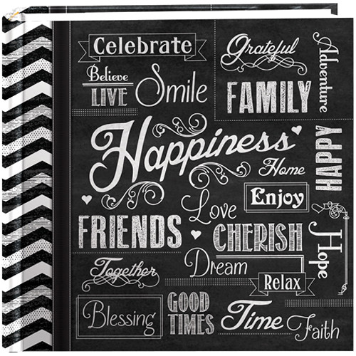 Pioneer Photo Albums Chalkboard Printed Memo Bi-Directional Album (Happiness)