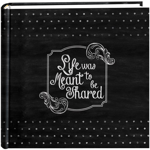 "Pioneer Photo Albums 2-Up 4x6"" 200-Pocket Chalkboard Photo Album (Shared)"