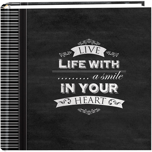"Pioneer Photo Albums 2-Up 4x6"" 200-Pocket Chalkboard Photo Album (Smile)"