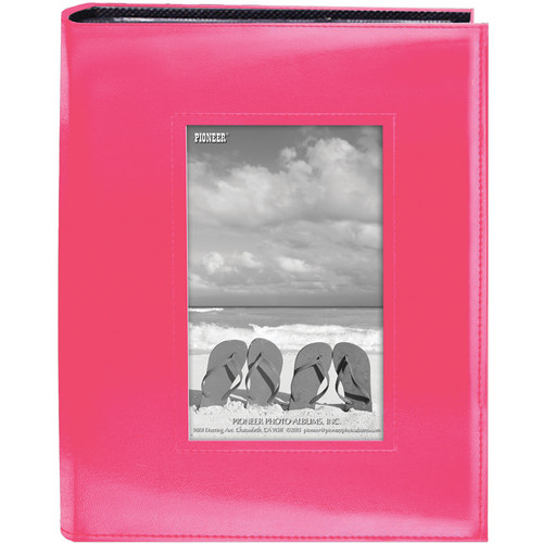 Pioneer Photo Albums FRM-246-CPK Sewn Photo Album with Frame Cutout (Pink)