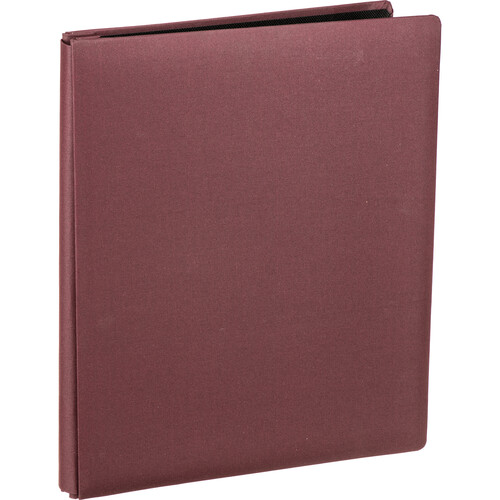 """Pioneer Photo Albums FTM Family Treasures Deluxe Top-Loading Scrapbook with Fabric Cover (12 x 15"""", Rich Bordeaux)"""