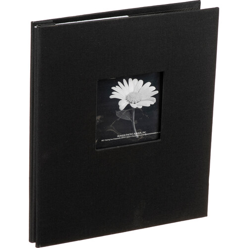 Pioneer Photo Albums MB811CBF/BK Top Loading Scrapbook with Leatherette Cover (Black)