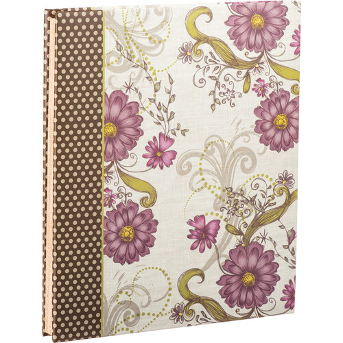 """Pioneer Photo Albums SJ100 Large-Page Scrapbook (50 Sheets, 11 x 14"""", Berry Blossoms)"""