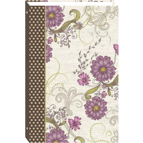 """Pioneer Photo Albums STC-46D 3-Ring Photo Album (4 x 6"""", Berry Blossoms)"""