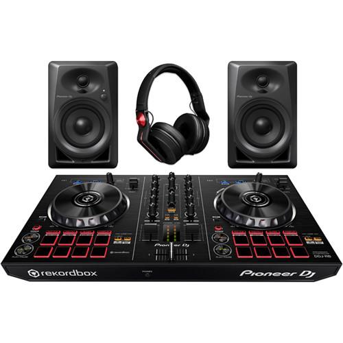Pioneer DJ DJ Starter Pack with rekordbox Controller, Studio Monitors & DJ Headphones