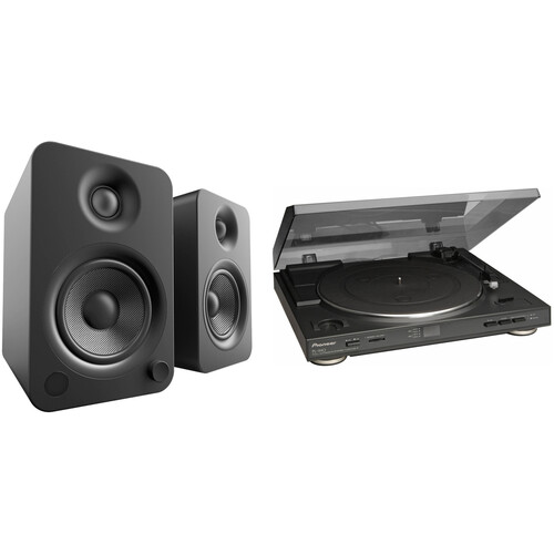Pioneer PL-990 Fully Automatic Belt-Driven Turntable and Powered Speakers Kit