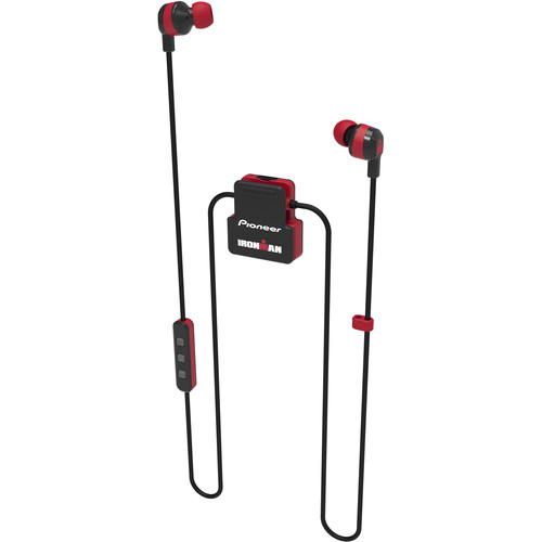 Pioneer SE-IM5BT-R IRONMAN Wireless Sports In-Ear Earphones (Red)