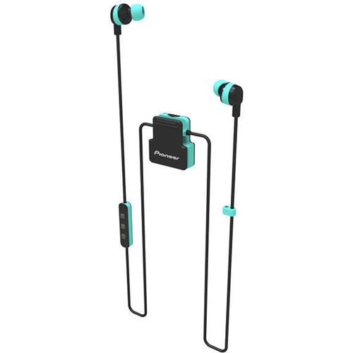 Pioneer ClipWear Active Bluetooth Headphones (Black/Aqua)