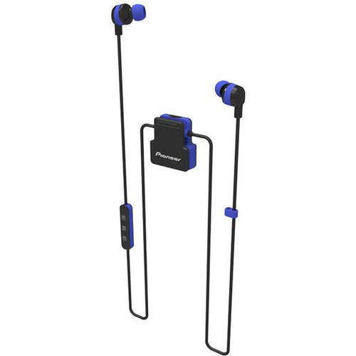 Pioneer ClipWear Active Bluetooth Headphones (Black/Blue)