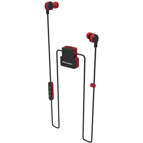 Pioneer ClipWear Active Bluetooth Headphones (Black/Red)