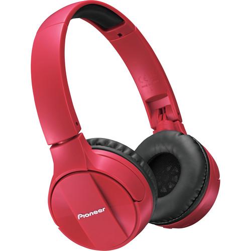 Pioneer SE-MJ553BT Bluetooth Headphones (Red)