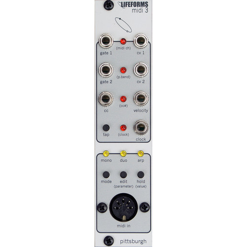 Pittsburgh Lifeforms MIDI 3 - MIDI-to-CV Converter - Eurorack Module