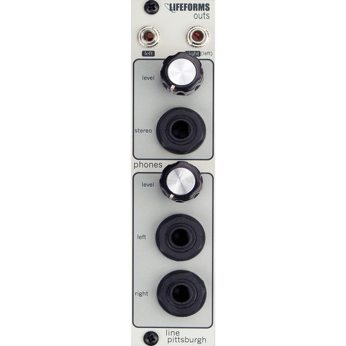 Pittsburgh Modular Lifeforms Outs Stereo Headphone Amp and Line Output Eurorack Module
