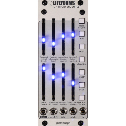 Pittsburgh Modular Lifeforms Micro Sequence 8-Step Programmable Sequencer Eurorack Module
