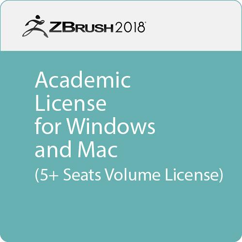 Pixologic ZBrush 2018 (Academic Volume License, 5+ Seats, Download)