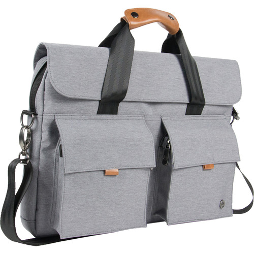 PKG International Richmond Messenger Bag (Light Gray)