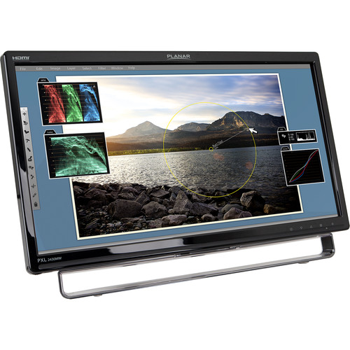 """Planar Systems PXL2430MW 24"""" 16:9 Touchscreen LCD Monitor"""