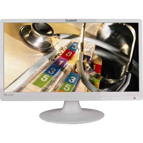 """Planar Systems PLL2210MW-WH 21.5"""" 16:9 LCD Monitor (White)"""