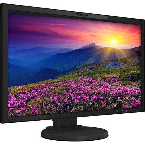 "Planar Systems 24"" LCD Monitor with Ads Panel Wide Viewing Angles VGA HDMI DP Speakers and Height Adjustable Stand"