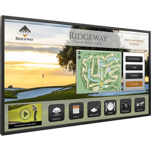 "Planar Systems 58"" Touchscreen UHD Ultra Slim LED Backlight Metal Bezel Landscape and Portrait Display"