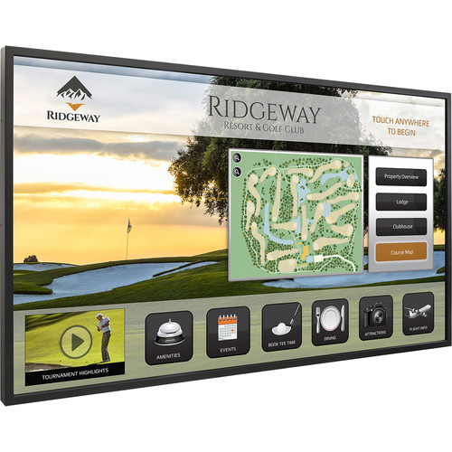"Planar Systems 50"" Touchscreen UHD Ultra Slim LED Backlight Metal Bezel Landscape and Portrait Display"