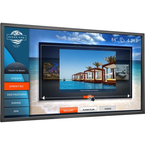 "Planar Systems 46"" Touchscreen FHD Ultra Slim LED Backlight Metal Bezel Landscape and Portrait Display"