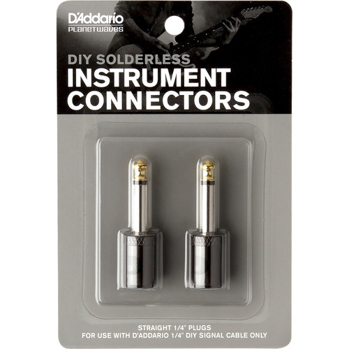 """Planet Waves Cable Station 1/4"""" Plug (Straight, 2-Pack)"""
