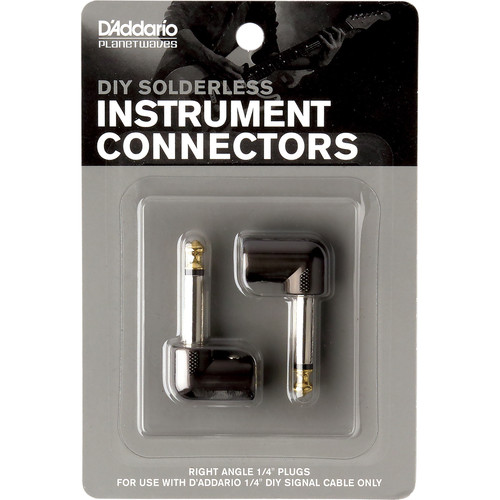 """Planet Waves Cable Station 1/4"""" Plug (Right-Angle, 2-Pack)"""