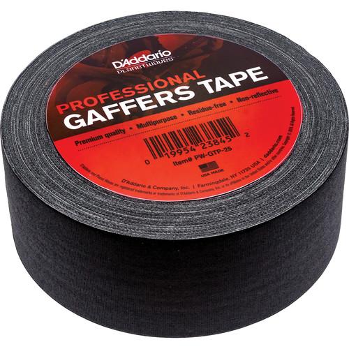 """D'Addario Gaffers Tape (2"""" x 25 yd, Black)"""