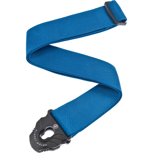 Planet Waves Planet Lock Polypropylene Guitar Strap (Blue)