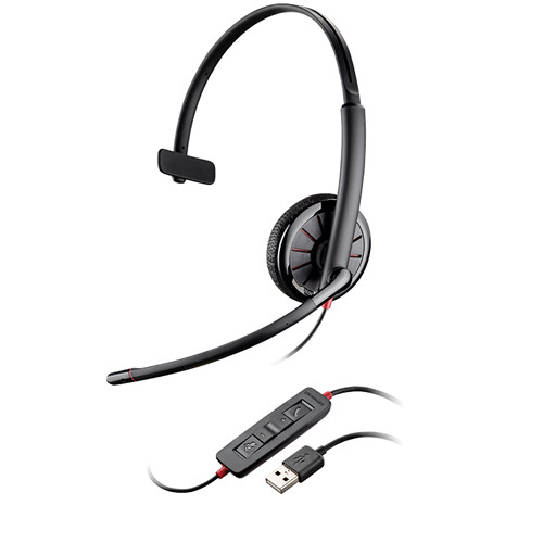 Plantronics 200264-11 Blackwire C315 USB Corded Monaural Headset in Packaging for Vending Machines