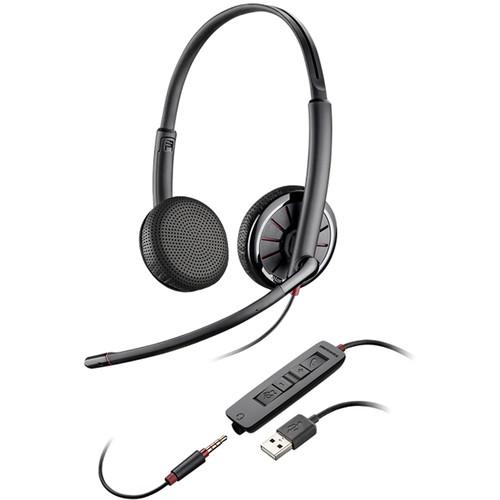 Plantronics Blackwire 325 USB Binaural On-Ear Headset for Skype/UC Applications