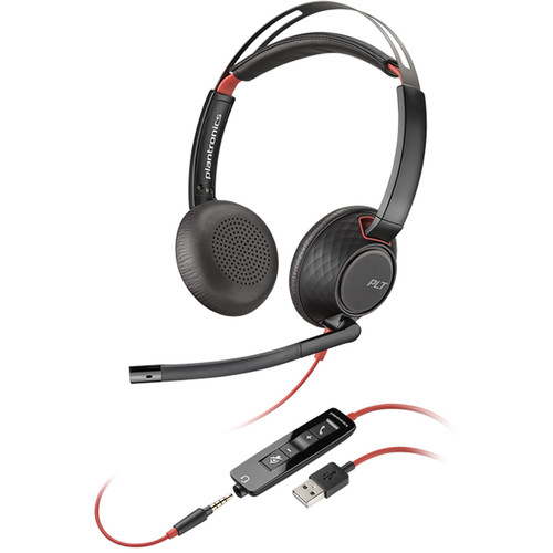 Plantronics Blackwire 5220 USB Type-A Stereo On-Ear Headset