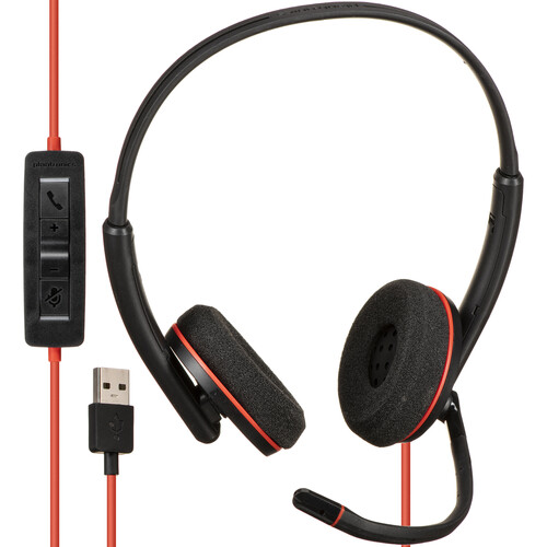 Plantronics Blackwire 3220 USB Type-A Corded Stereo UC Headset in Vending Machine Packaging