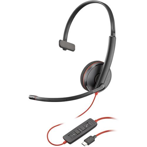 Plantronics Blackwire 3210 USB Type-C Corded Monaural UC Headset
