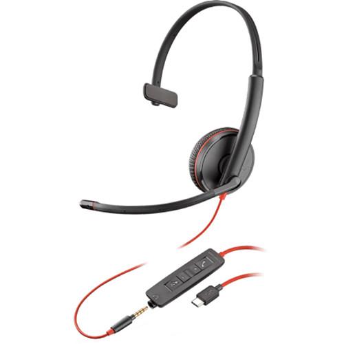 Plantronics Blackwire 3215 USB Type-C Corded Monaural UC Headset