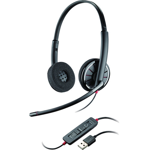 Plantronics Backwire C320-M USB Corded Stereo Headset with Foam Ear Cushions