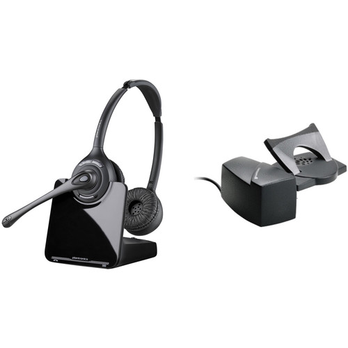 Plantronics CS520-XD Wireless Binaural Headset Kit with HL10 Handset Lifter for Savi Wireless System