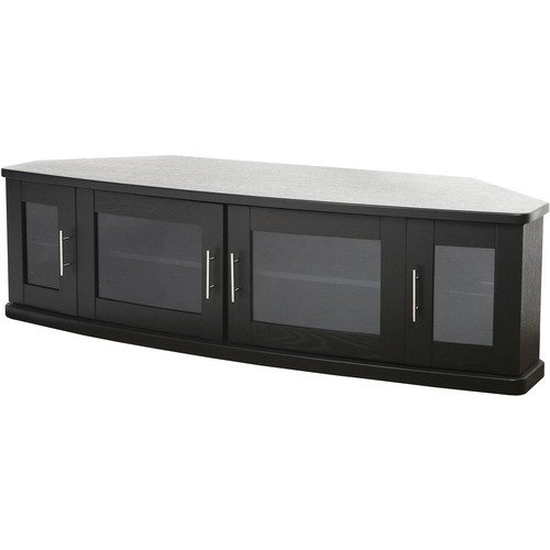 PLATEAU Newport 62 Corner TV Stand (Black Oak)