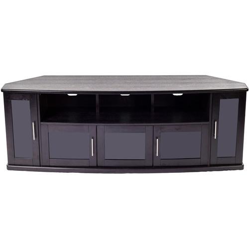 PLATEAU Newport 80 Corner TV Stand (Black Oak)