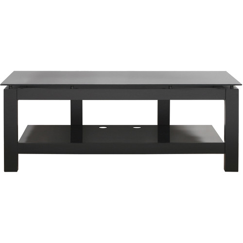 PLATEAU SL-2V 50 TV Stand with Black Glass
