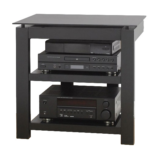 PLATEAU SL-3V 26 TV Stand with Black Glass